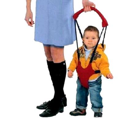 Вожжи для детей Bambino красные